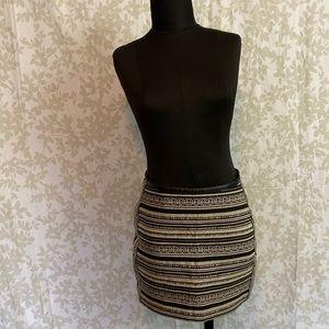 H&M Woven Stripe Mini Skirt